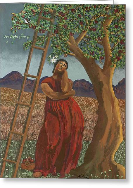 Bible Greeting Cards - Gods Most Capable Woman Greeting Card by Rick Koestler
