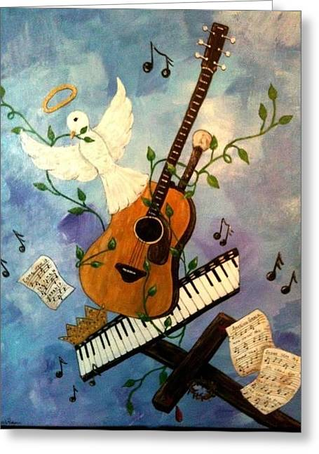 God's Music Greeting Card by Suzanne Brabham