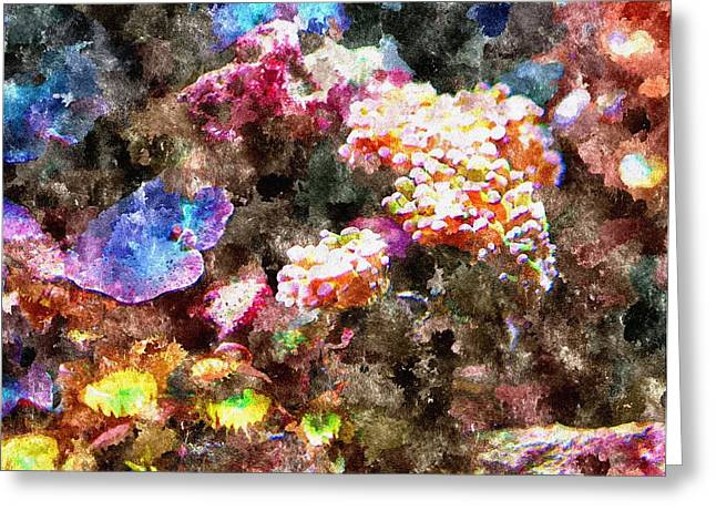 Seacape Greeting Cards - Gods Ocean Garden Greeting Card by Rosemarie E Seppala