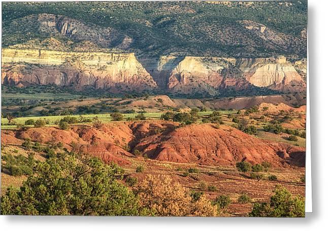 Northern New Mexico Greeting Cards - Gods Palette Abiquiu Ghost Ranch New Mexico Greeting Card by Silvio Ligutti