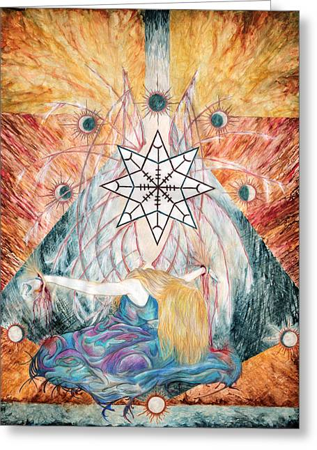 Angel Wings Mixed Media Greeting Cards - Gods Prisoner Greeting Card by Kd Neeley