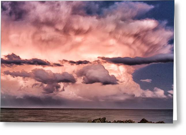 Summer Storm Greeting Cards - Gods rage 2 Greeting Card by Stylianos Kleanthous