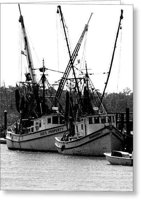 Shrimp Boat Captains Greeting Cards - Gods Shrimp Boat Greeting Card by Glenn Grossman