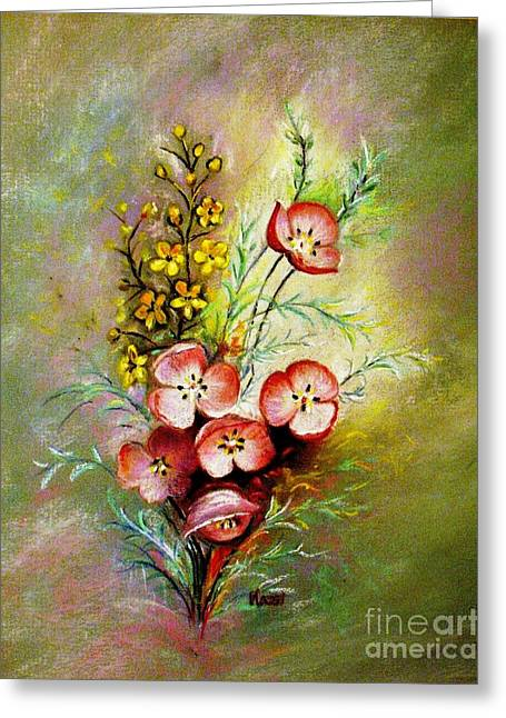 Nature Scene Pastels Greeting Cards - Gods Smile Greeting Card by Hazel Holland