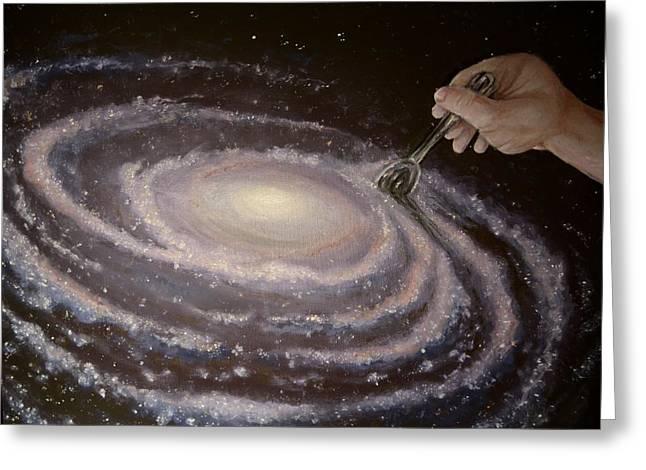 Intergalactic Space Greeting Cards - Godspeed Greeting Card by Luke Horowitz