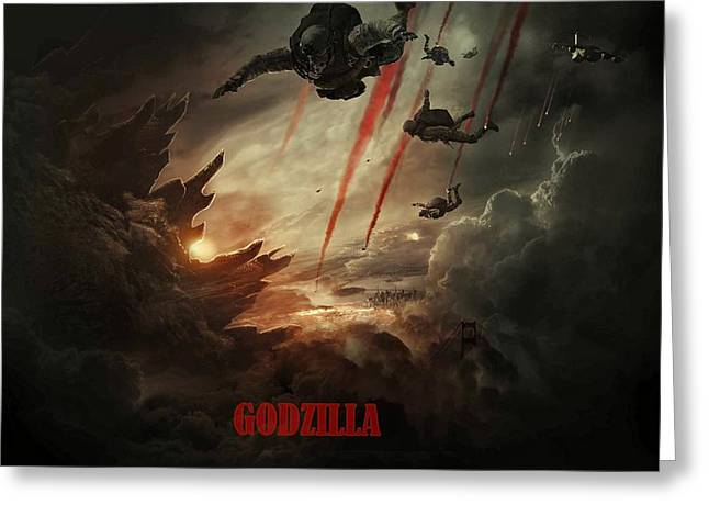 Godzilla 2014 C Greeting Card by Movie Poster Prints