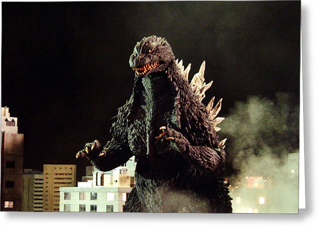 Films Photographs Greeting Cards - Godzilla, King of the Monsters!  Greeting Card by Silver Screen