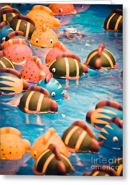 Kiddie Greeting Cards - Goin Fishin Greeting Card by Colleen Kammerer