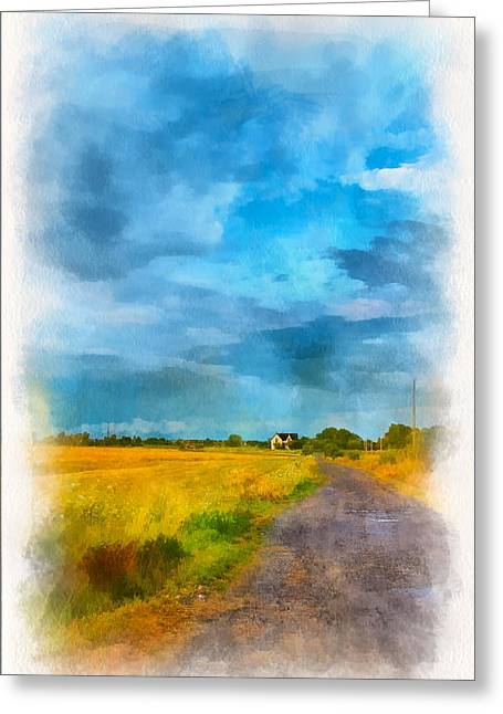 Back Roads Digital Art Greeting Cards - Goin Home 3 Greeting Card by Steve Harrington