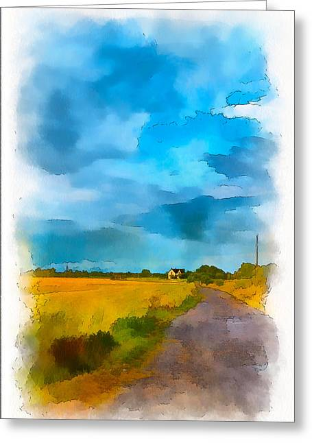 Passing Storm Greeting Cards - Goin Home 4 Greeting Card by Steve Harrington
