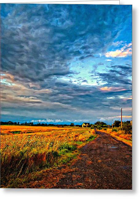 Storm Prints Digital Art Greeting Cards - Goin Home oil Greeting Card by Steve Harrington
