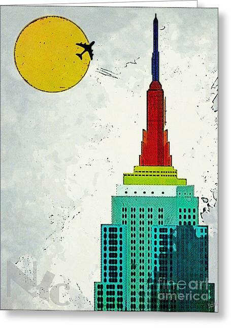 New York Newyork Digital Greeting Cards - Going Away Greeting Card by Nishanth Gopinathan