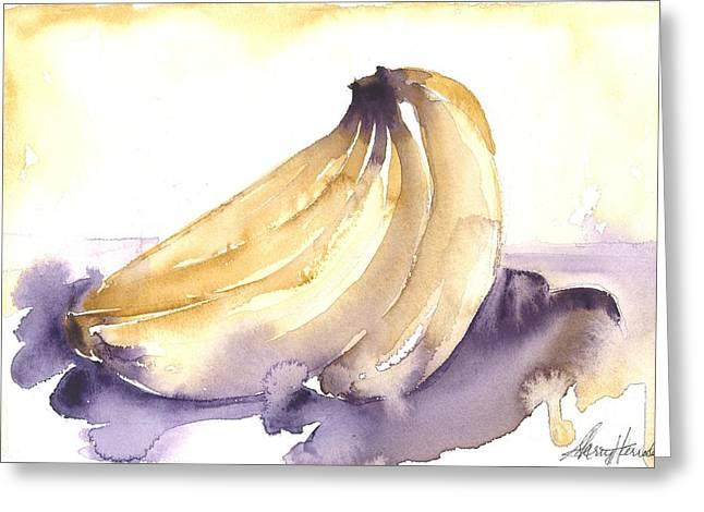 Going Bananas 1 Greeting Card by Sherry Harradence