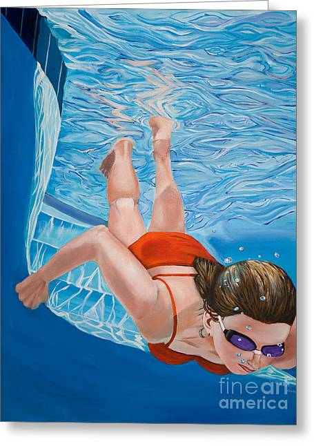 Linda Queally Greeting Cards - Going Deeper Greeting Card by Linda Queally