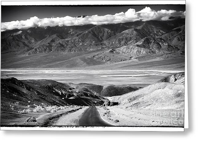 Going Down Greeting Cards - Going Down in Death Valley Greeting Card by John Rizzuto