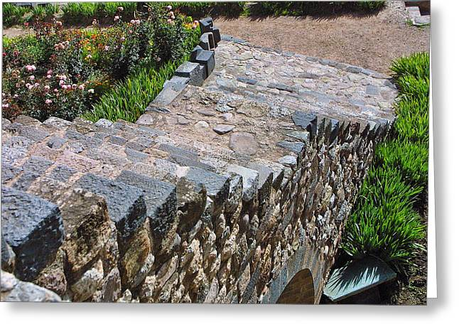 Stepping Stones Greeting Cards - Going Down Greeting Card by Linda Phelps