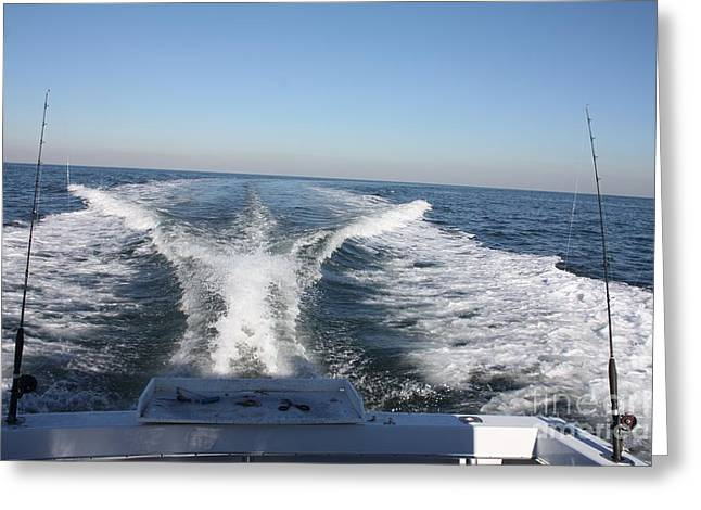 Boats In Water Greeting Cards - Going Fishing Greeting Card by John Telfer
