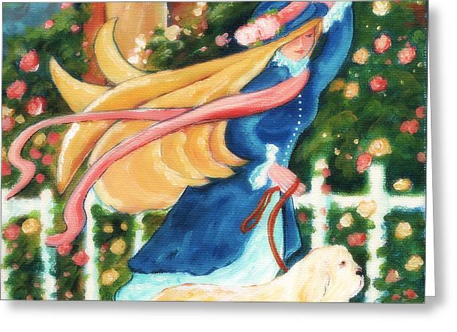 Arkansas Paintings Greeting Cards - Going For A Walk Greeting Card by MarLa Hoover