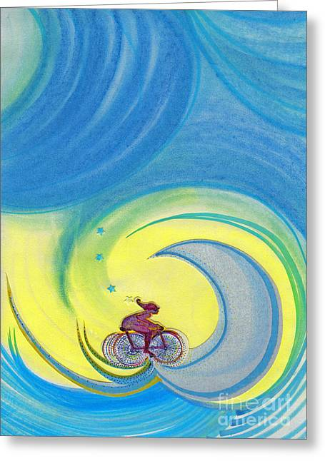 Youth Pastels Greeting Cards - Going For It by jrr Greeting Card by First Star Art