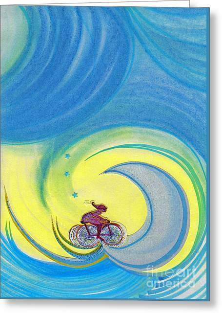 Ambition Mixed Media Greeting Cards - Going For It by jrr Greeting Card by First Star Art