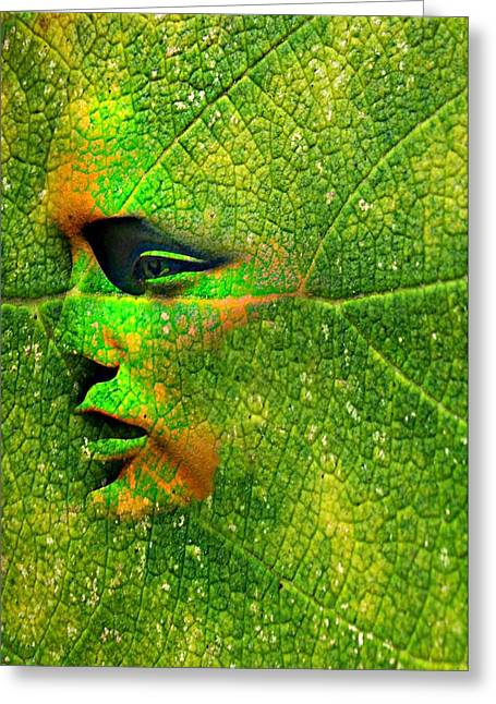 Candid Portraits Greeting Cards - Going Green Greeting Card by Diana Angstadt