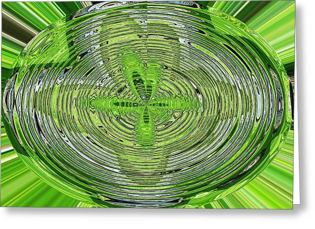 Going Green Greeting Card by Ella Char