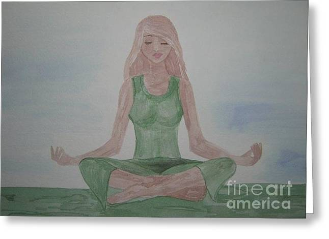 Aura Drawings Greeting Cards - Going Green Greeting Card by Melissa Darnell Glowacki