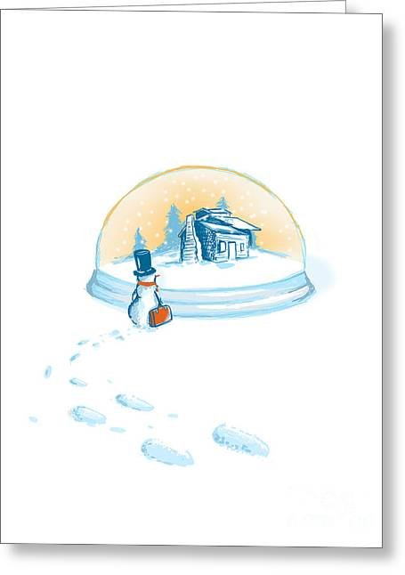 December Greeting Cards - Going home Greeting Card by Budi Satria Kwan