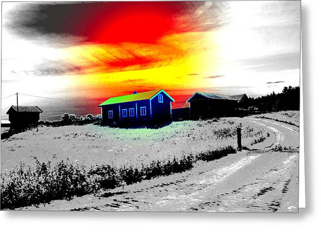 Farmlife Greeting Cards - Going White Home For Christmas Greeting Card by Hilde Widerberg