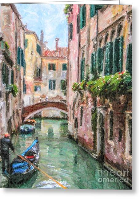 Venezia Greeting Cards - Going Home Greeting Card by Liz Leyden