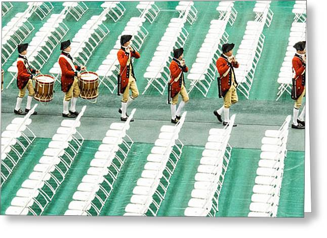 Marching Band Greeting Cards - Going Home Greeting Card by Roger Walk