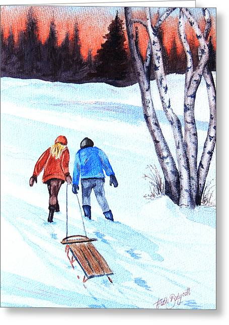 Transparent Clothes Greeting Cards - Going Home Greeting Card by Ruth Bodycott