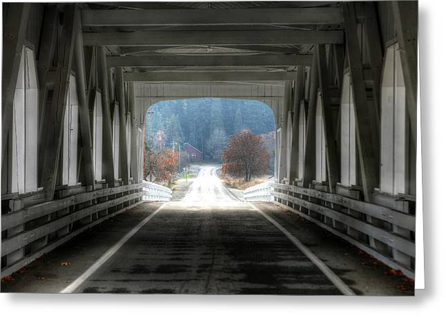 Covered Bridge Greeting Cards - Going Home Greeting Card by Steve Parr