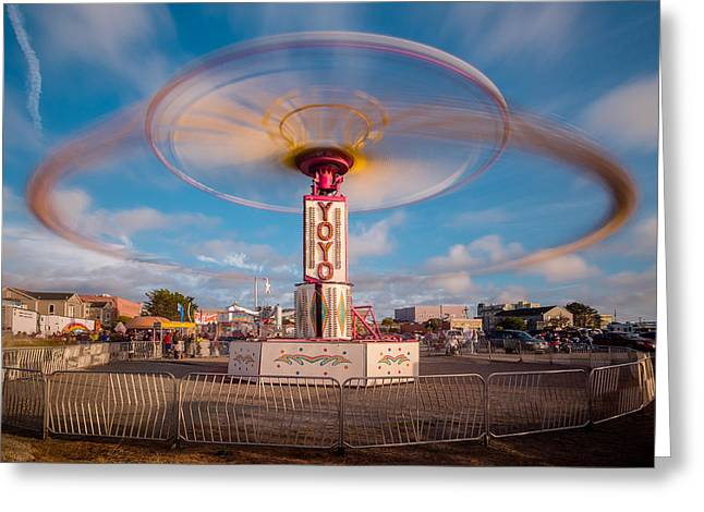 Photographers Ellipse Greeting Cards - Going in Circles Greeting Card by Greg Nyquist