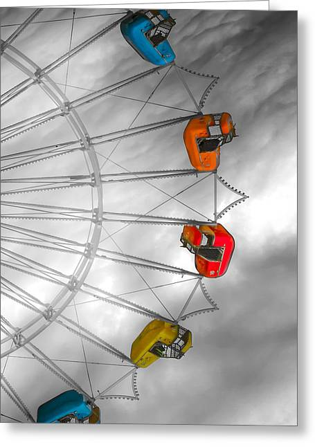 Carnie Greeting Cards - Going Round Greeting Card by Bob Orsillo
