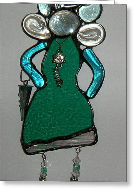 Lady Glass Greeting Cards - Going Shopping Greeting Card by Nora Solomon