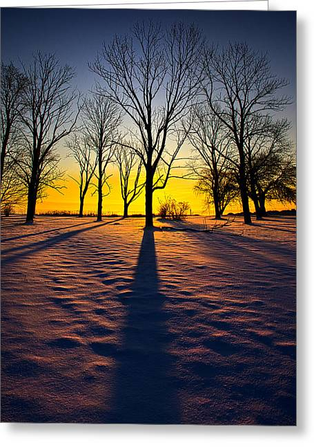 Geographic Greeting Cards - Going the Distance Greeting Card by Phil Koch