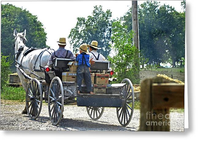 Going To Market Greeting Card by Paul Mashburn