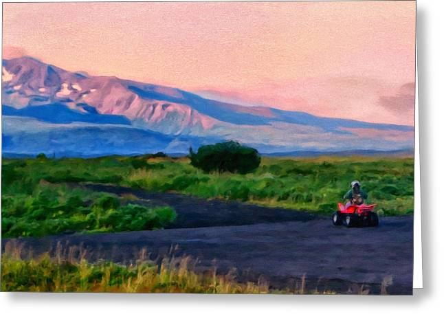 School Days Greeting Cards - Going to School Cold Bay Style Greeting Card by Michael Pickett