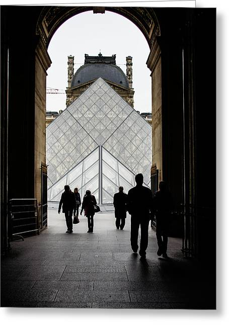 French Doors Greeting Cards - Going to the Louvre Greeting Card by Georgia Mizuleva