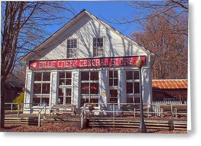 Billie Creek Village Greeting Cards - Going to the Store Greeting Card by Thomas Sellberg