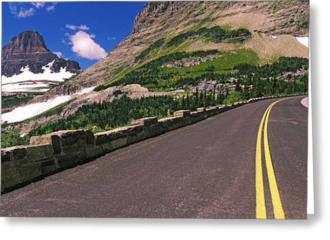 Mountain Road Greeting Cards - Going-to-the-sun Road At Us Glacier Greeting Card by Panoramic Images