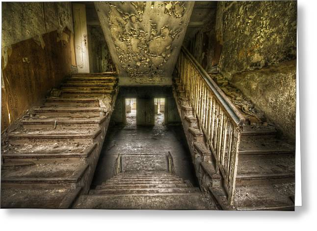 Creepy Digital Art Greeting Cards - Going up and down Greeting Card by Nathan Wright