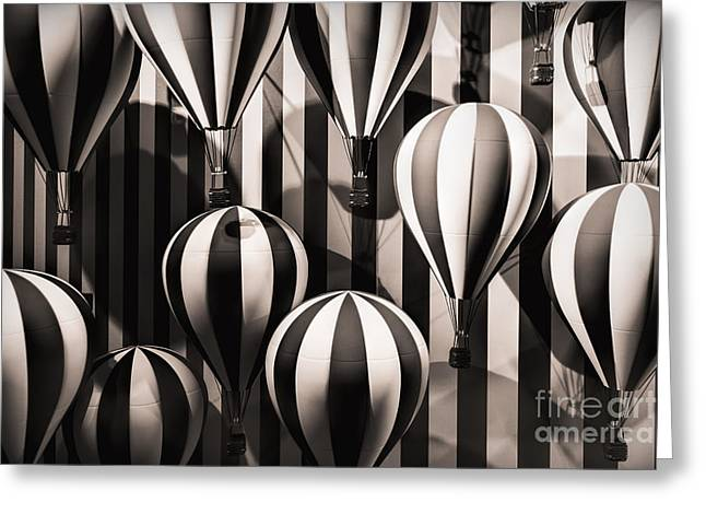 Baloon Greeting Cards - Going Up Greeting Card by Doug Sturgess