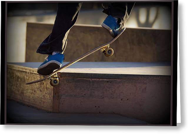 Skateboard Greeting Cards - Going up Greeting Card by Ernie Echols