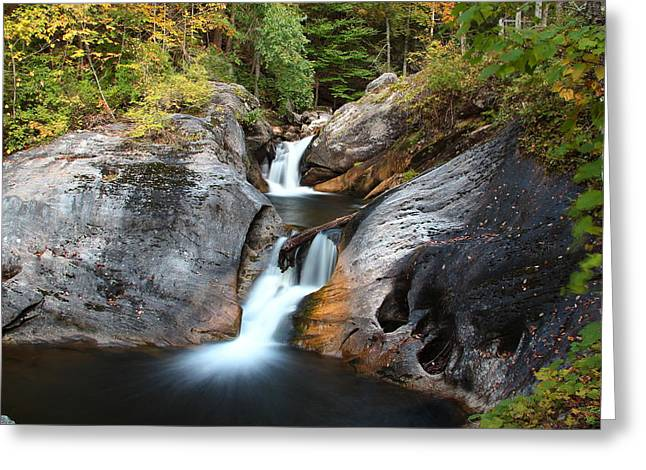 Kent Falls State Park Greeting Cards - Going up Kent Greeting Card by Andrea Galiffi