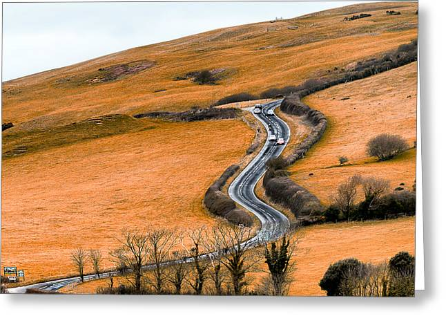 The Hills Greeting Cards - Going up that hill Greeting Card by Vinicios De Moura
