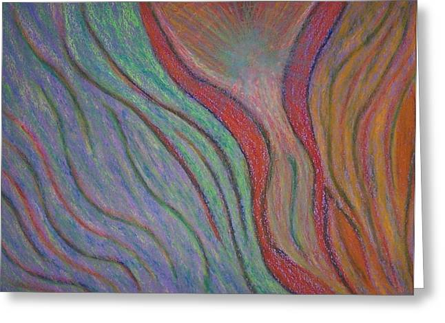 Transformations Pastels Greeting Cards - Going with the Flow Greeting Card by Jamie Rogers
