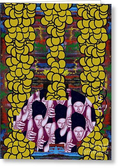 Gold 1 Greeting Card by Patrick J Murphy