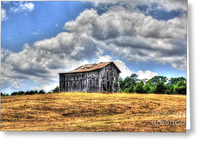 Old Barns Greeting Cards - Gold and Aged Greeting Card by Dan Stone